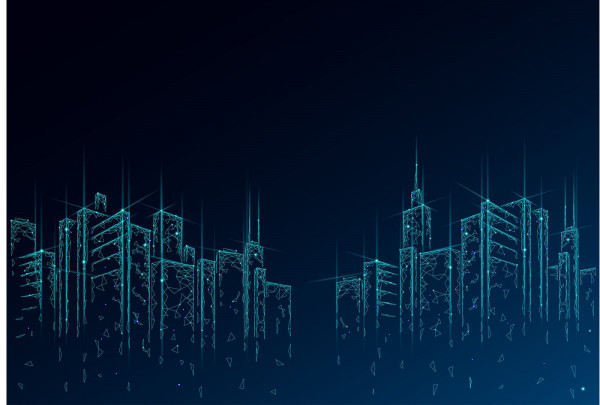 Blue Polygons Skyline